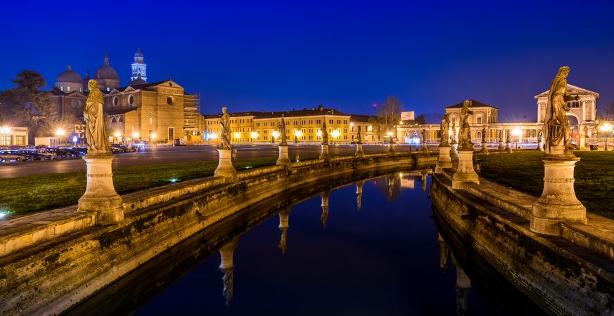 Image of Prato Della Valle in Padua (Italy) in the evening